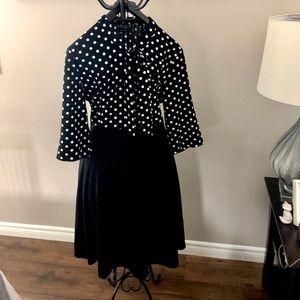 NWT Bombshell Polka Dot Top Dress with Bow